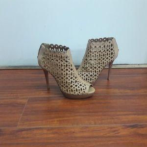 Amiana leather heels